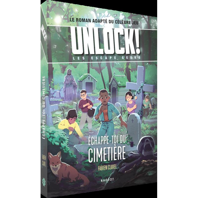Livre jeu Unlock! Escape Geeks Tome 2 : Échappe-toi du Cimetière !
