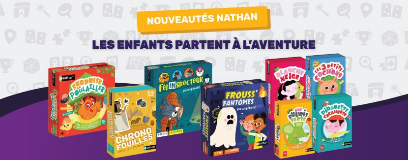 Nouveaux jeux colorés Nathan pour les enfants dès 4 ans