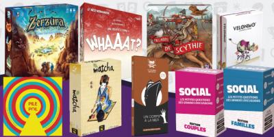Nouveaux jeux d'ambiance et de communication, familiaux et statégie